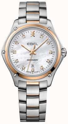 EBEL Dames diamant ontdekking parelmoer roestvrij staal 1216397