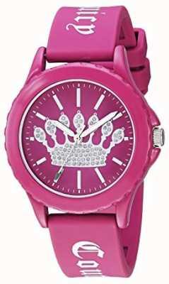 Juicy Couture Roze dameshorloge voor dameshorloge met roze wijzerplaat JC-1001HPHP