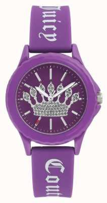 Juicy Couture Purper siliconen horlogebandje met wijzerplaat paarse wijzerplaat JC-1001PRPR