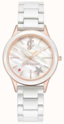 Juicy Couture Witte witte wijzerplaat rosé gouden wijzerplaat, dames, wit JC-1048WTRG