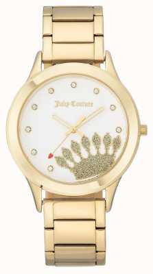 Juicy Couture Dames gouden wijzerplaat en armband JC-1052WTGB