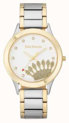 Juicy Couture Dames gouden wijzerplaat en twee tone armband JC-1053WTTT