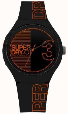 Superdry Urban xl fusion mat zwart oranje print SYG239BO