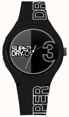 Superdry Urban xl fusion mat zwart-witte print SYG239BW