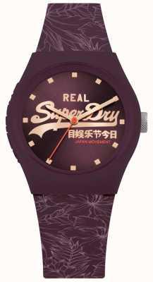 Superdry Stedelijke blad paarse sunray wijzerplaat paarse riem SYL248V
