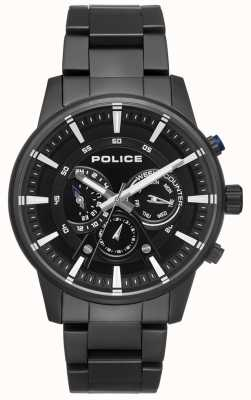Police Zwarte wijzerplaat herenwit stijl zwarte armband PL.15523JSB/02M