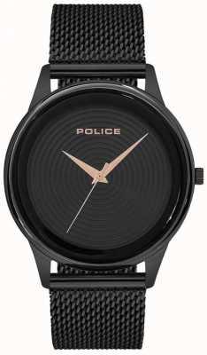 Police Heren smart style zwarte mesh armband zwarte wijzerplaat PL.15524JSB/02MM