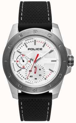 Police Zwarte zilveren wijzerplaat in urban stijl PL.15527JSTU/04P