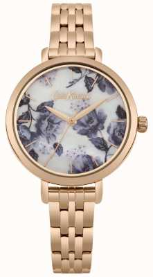 Cath Kidston Dames rose goudkleurige armband poppy-drukplaat CKL060RGM