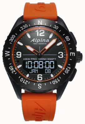 Alpina Alpinerx smartwatch oranje rubberen band AL-283LBO5AQ6