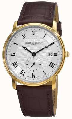 Frederique Constant Slank, Zwitsers, herenhorloge, gemaakt van edelmetaal FC-245M5S5