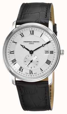 Frederique Constant Slimline zilveren herenhorloge heren gemaakt FC-245M5S6