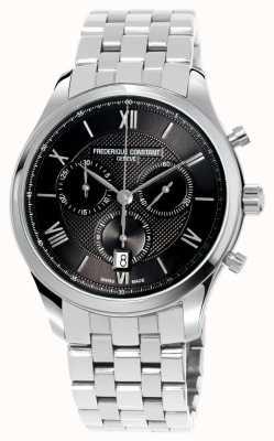 Frederique Constant Herenklassiekers chronograaf roestvrijstalen armband FC-292MG5B6B