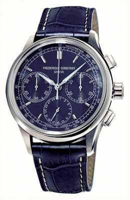 Frederique Constant Heren flyback chronograaf maken blauwe wijzerplaat FC-760N4H6