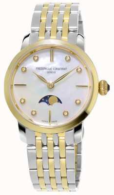 Frederique Constant Tweekleurige damesarmband met maanfasekwarts FC-206MPWD1S3B
