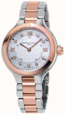 Frederique Constant Dameshorologische smartwatch verrukt tweekleurig rose goud FC-281WHD3ER2B