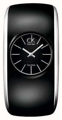 Calvin Klein Glanzend zwart dameshorloge K6095101