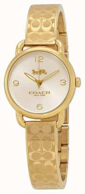 Coach Gouden delancey dameshorloge 14502892