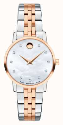 Movado Womens museum two tone rose roestvrij staal 0607209