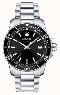 Movado Heren serie 800 roestvrij staal zwarte wijzerplaat 2600135