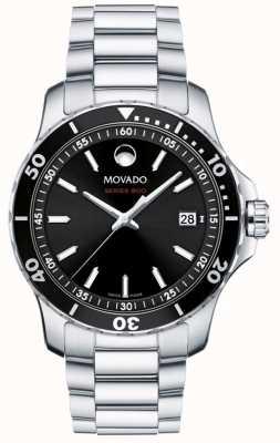 Movado Heren serie 800 roestvrijstalen zwarte wijzerplaat 2600135
