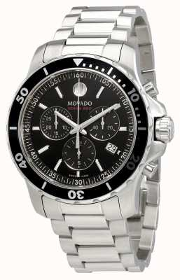 Movado Heren series 800 chronograaf roestvrij stalen zwarte wijzerplaat 2600142