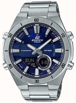 Casio Edifice bluetooth lap timer roestvrij staal blauwe accenten ECB-800D-1AEF