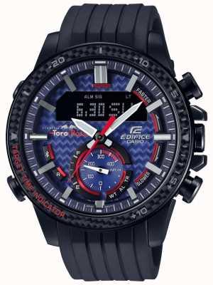 Casio Edifice toro rosso bluetooth lap timer zwarte rubberen band ECB-800TR-2AER