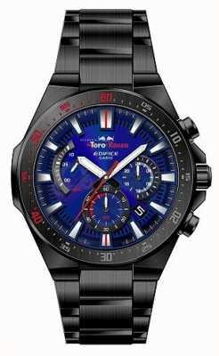 Casio Edifice toro rosso zwart ip vergulde blauwe wijzerplaat chrono EFR-563TR-2AER