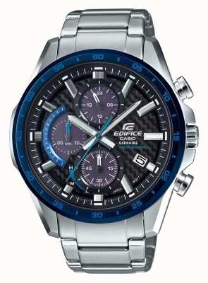 Casio Edifice zwart / blauw carbon wijzerplaat datum datum chrono EFS-S540DB-1BUEF