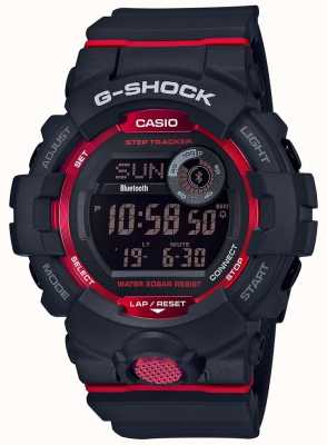 Casio G-squad zwart / rood digitale bluetooth step-tracker GBD-800-1ER