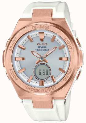 Casio G-ms baby-g rose goud stoere zonne-witte riem MSG-S200G-7AER