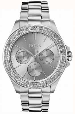 Boss Premiere kristal set van dames roestvrij staal 1502442