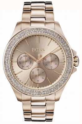 Hugo Boss Dames première kristal gezet vergulde armband 1502443