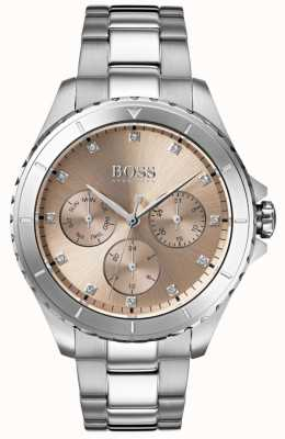Boss Dames première bronzen wijzerplaat roestvrij stalen armband 1502444