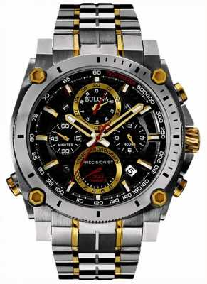 Bulova Heren precisiekist roestvrij staal en gouden horloge 98B228