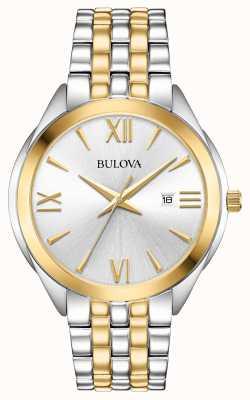Bulova Dames two tone roestvrij stalen horloge 98B331
