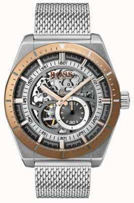 Hugo Boss Klassieke heren skelet armband in roestvrij staal 1513657