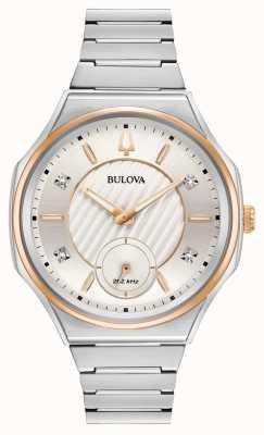 Bulova | curv | vrouwen | roestvrijstalen armband | 98P182