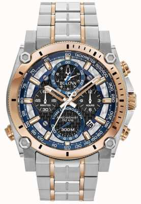 Bulova Heren sport champlain precisionist roestvrij stalen horloge 98B317