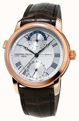 Frederique Constant Hybride fabricage 3.0 automatische smartwatch bruine riem FC-750MC4H4