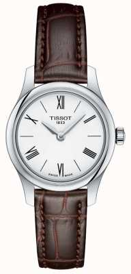 Tissot Womens traditie 5.5 lady watch bruin lederen band T0630091601800