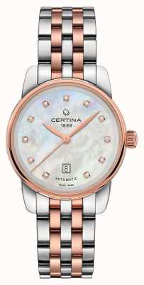 Certina Dames DS podium dame automatische two tone armband C0010072211600