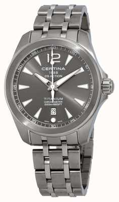 Certina Heren ds action watch grijze wijzerplaat titanium armband C0328514408700