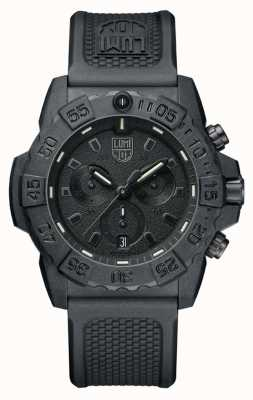 Luminox Navy seal 3580 chronograaf zwart / zwart met pu band XS.3581.BO