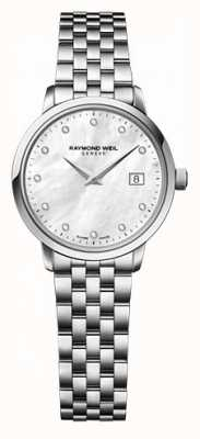 Raymond Weil Dames freelancer moher of pearl wijzerplaat diamanthorloge 5626-ST-97081