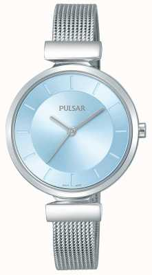 Pulsar Dames roestvrijstalen band lichtblauwe wijzerplaat PH8411X1