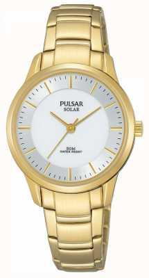 Pulsar Dames vergulde zonne-zilveren wijzerplaat PY5042X1