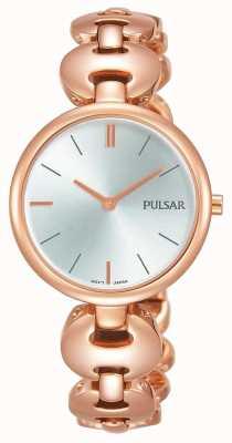 Pulsar Dames rosegouden horloge zilveren wijzerplaat PM2268X1