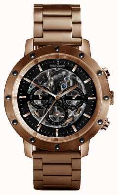 Weird Ape Icarus 3 wijzerplaat zwart roze goud / rosé gouden armband WA02-005712